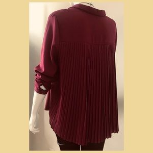 Pleated- back blouse